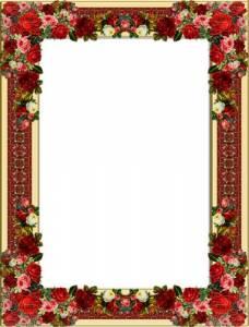 Картинки рамка осенние цветы