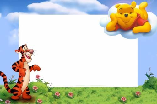 Рамки для текста фото поздравления: Винни Пух на облаке ...