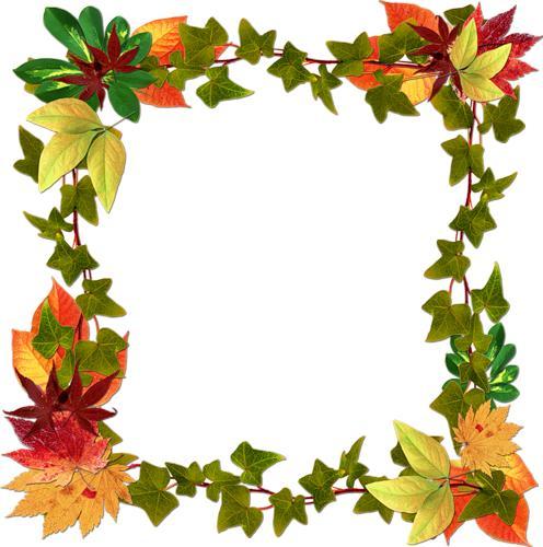 Картинки рамочки осенние листья