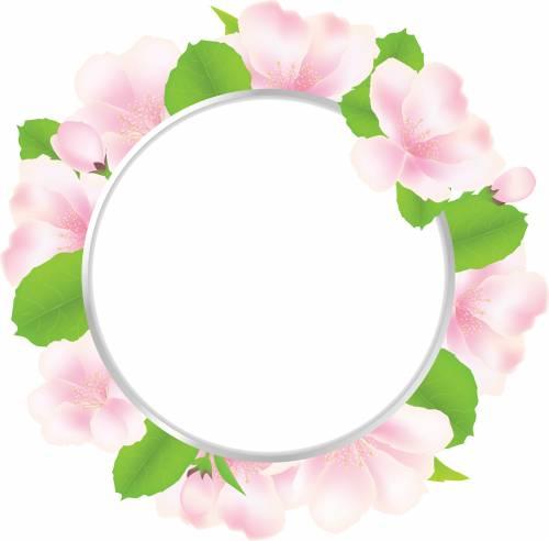 Цветы круглая рамка