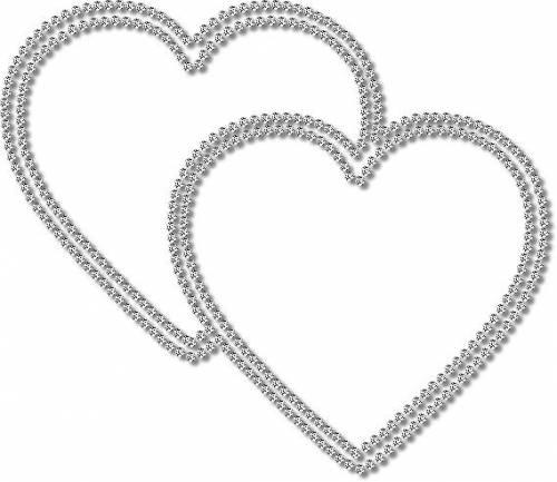 Сердечки Два сердечка из драгоценных камешков рамки