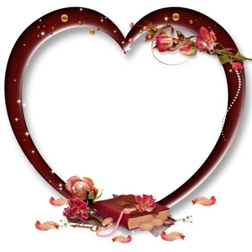 Сердечки Сердечко-рамка с книгой рамки
