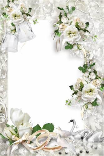 Рисунок на свадьбу с кольцами